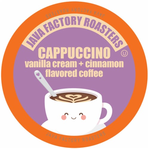 Java Factory Cappuccino Flavored Coffee for Keurig K Cup Brewers, 40Count Perspective: front