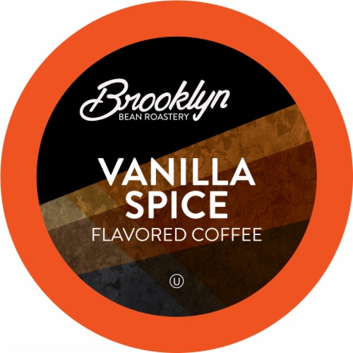 Brooklyn Bean Roastery Flavored Coffee Pods,for Keurig ,Vanilla Spice,40 count Perspective: front