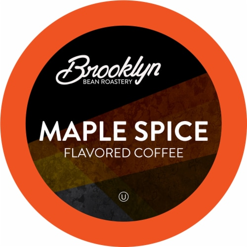 Brooklyn Bean Roastery Flavored Coffee Pods, Maple Cinnamon Spice, 40 Count Perspective: front