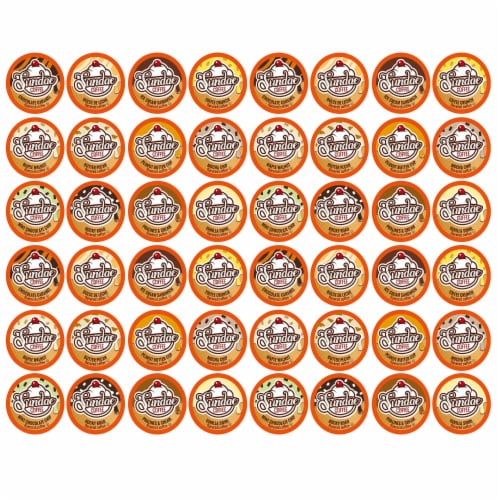 Sundae Ice Cream Flavored K-Cups Coffee Variety Pack for Keurig K-Cup Brewers, 48 count Perspective: front