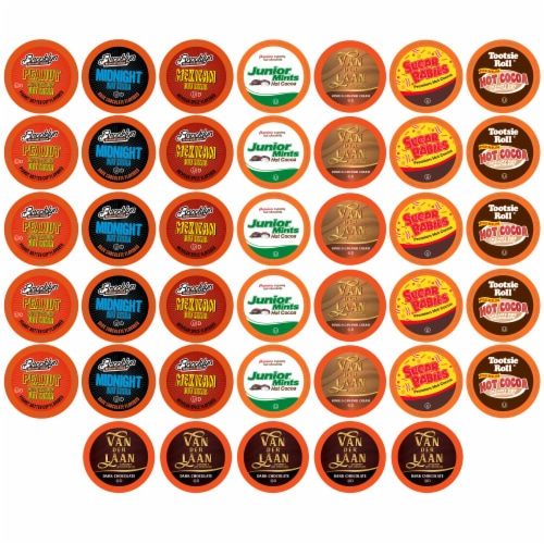 BEST Of The BEST Hot Chocolate K-Cups Variety Pack for Keurig K-Cup Brewers, 40 Count Perspective: front
