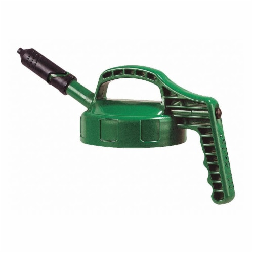 Oil Safe Mini Spout Lid,w/0.27 In Out,Mid Green  100405 Perspective: front