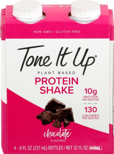Tone It Up Chocolate Flavored Protein Shake Perspective: front
