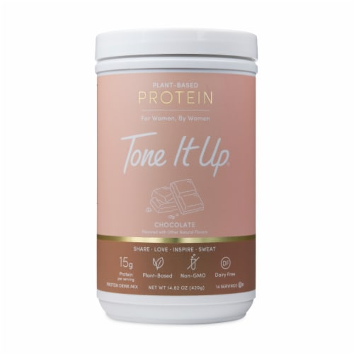 Tone It Up® Chocolate Plant-Based Protein Powder Perspective: front