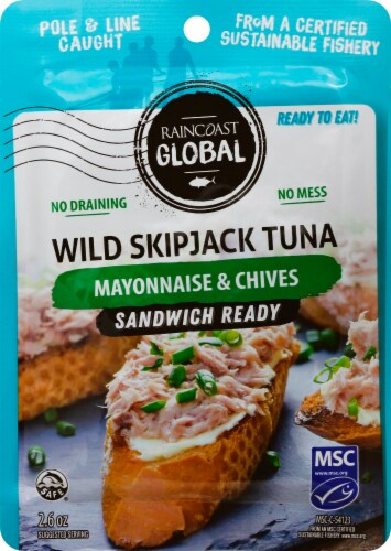 Raincoast Global Sandwich Ready Mayonnaise & Chives Wild Skipjack Tuna Perspective: front