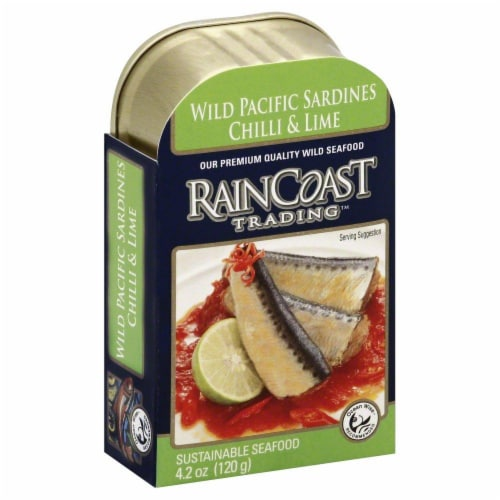 Raincoast Trading Chilli & Lime Wild Pacific Sardines Perspective: front