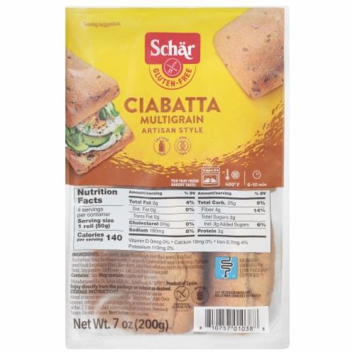 Schar Gluten Free Multigrain Ciabatta Perspective: front