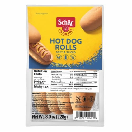 Schar Gluten Free Hot Dog Rolls Perspective: front