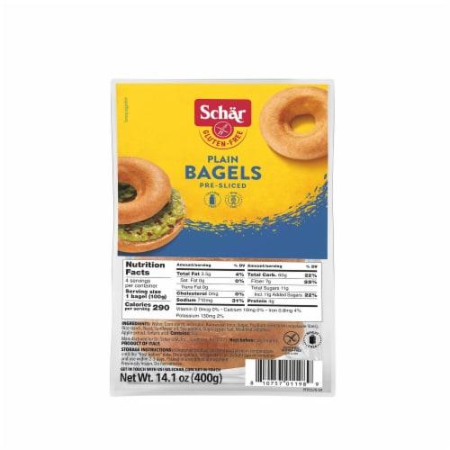 Schar Gluten Free Plain Bagels Perspective: front