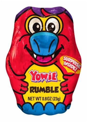 Yowie Rumble Surprise Inside Milk Chocolate Candy Perspective: front