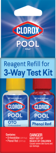 Clorox Pool & Spa Reagant Refill for 3-Way Test Kit Perspective: front