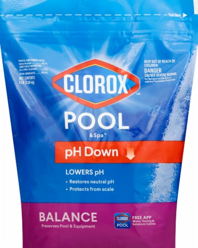 Clorox Pool & Spa pH Down Stabilizer Perspective: front