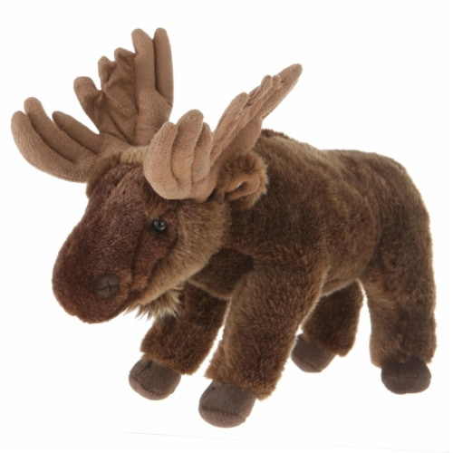 Giftable World A08034 10 in. Standing Moose Perspective: front