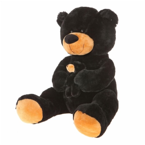 Giftable World B01008 16 in. Bear with Baby - Black Perspective: front