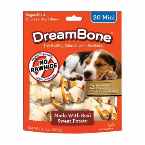 Dreambone 8013265 Chicken & Sweet Potato Dog Chews, Pack of 24 - Case of 14 Perspective: front