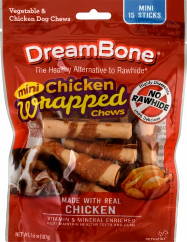 DreamBone Mini Chicken Wrapped Chews Perspective: front