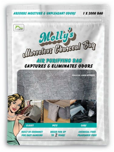 Molly's Marvelous Charcoal Air Purifying Bag Perspective: front
