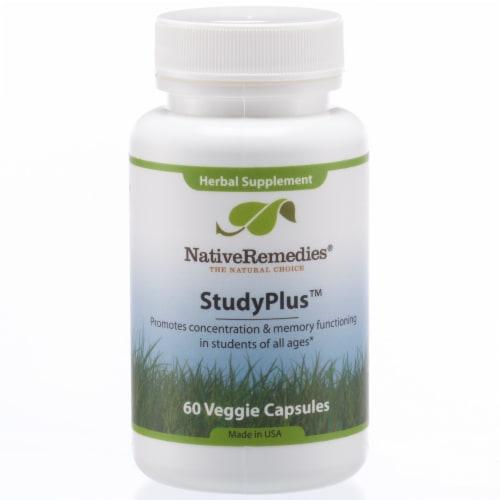 Native Remedies StudyPlus Veggie Capsules Perspective: front