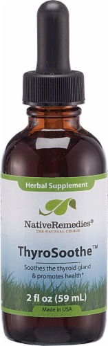 Native Remedies  ThyroSoothe™ Herbal Supplement Perspective: front