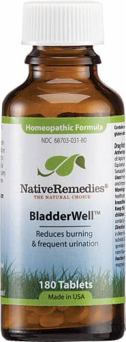 Native Remedies  BladderWell™ Homeopathic Formula Perspective: front