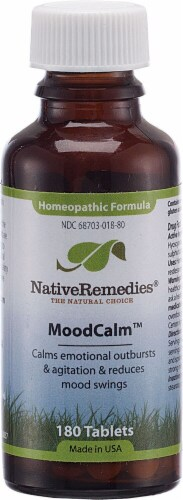 Native Remedies MoodCalm Homeopathic Formula Tablets Perspective: front