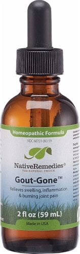 Native Remedies  Gout-Gone™ Homeopathic Formula Perspective: front