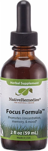Native Remedies Focus Formula Herbal Supplement Perspective: front