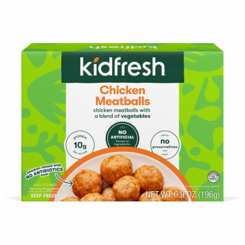 Kidfresh Mighty Meaty Chicken Meatballs Perspective: front