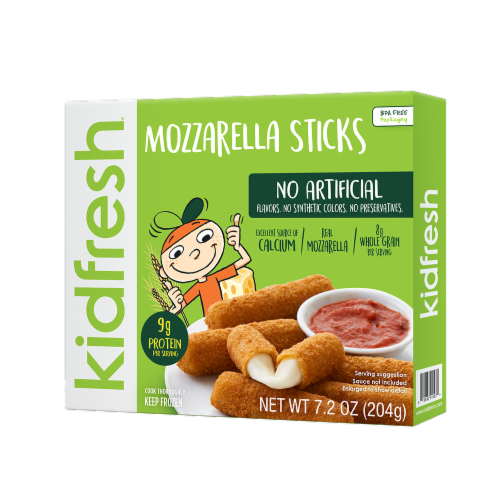 Kidfresh Mozzarella Sticks Perspective: front