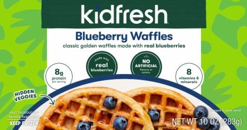 Kidfresh Blueberry Waffles Perspective: front