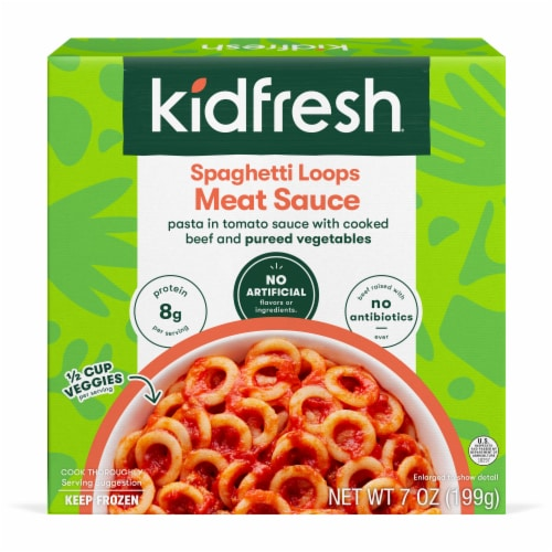 Kidfresh Spaghetti Loops Meat Sauce Perspective: front