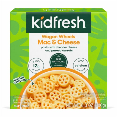 Kidfresh Wagon Wheels Mac 'n Cheese Perspective: front