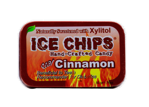 Ice Chips Cinnamon Candy Perspective: front