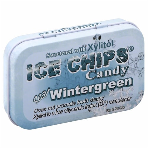 Ice Chips Wintergreen Candy Perspective: front