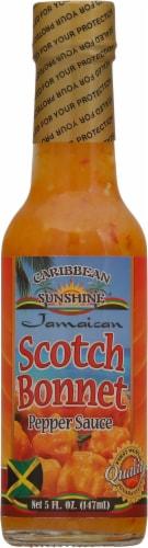 Caribbean Sunshine Scotch Bonnet Pepper Sauce Perspective: front