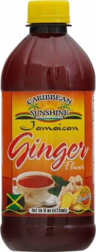 Caribbean Sunshine Ginger Drink Perspective: front