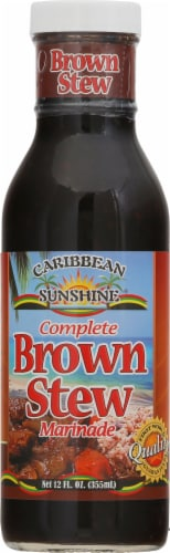 Caribbean Sunshine Jamaican Brown Stew Seasoning Perspective: front