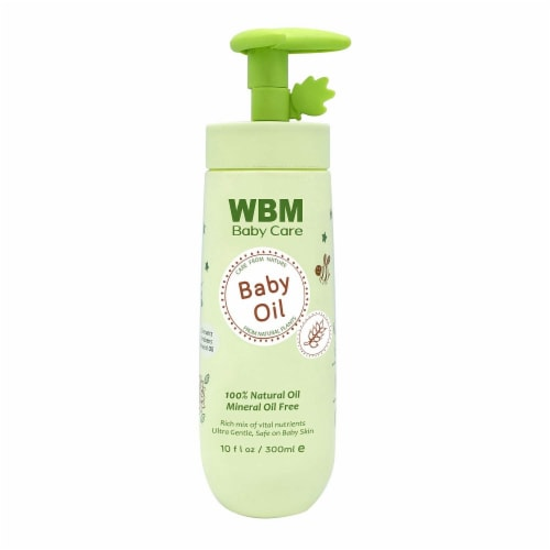 WBM Baby Care Body Oil, Moisturizing Massage Oil | Nutritious & Natural Ingredients - 10 Oz Perspective: front