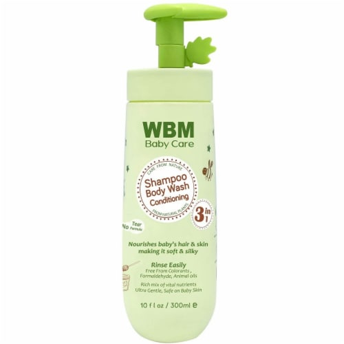 WBM Baby Care Body Wash, Hair Conditioning & Skin Moisturizing, Shampoo & Body Wash   10 Oz Perspective: front