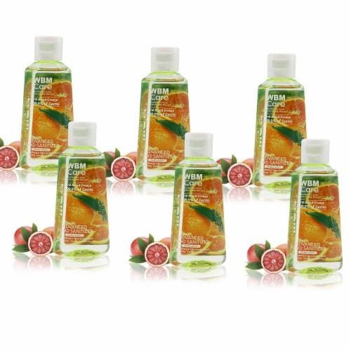 WBM Care Advanced Hand Sanitizer, Alcohol-Based, Blood Orange – Pack of 48/3.5 Oz Each Perspective: front