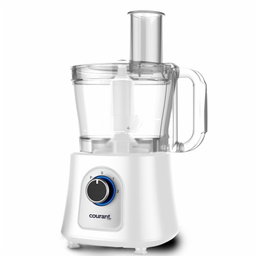 Courant CFP-1200W 12 Cup Food Procesr with Kugel Blade Disc, White Perspective: front