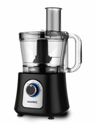 Courant 12-cup Food Processor with Kugel Disc - Black Perspective: front