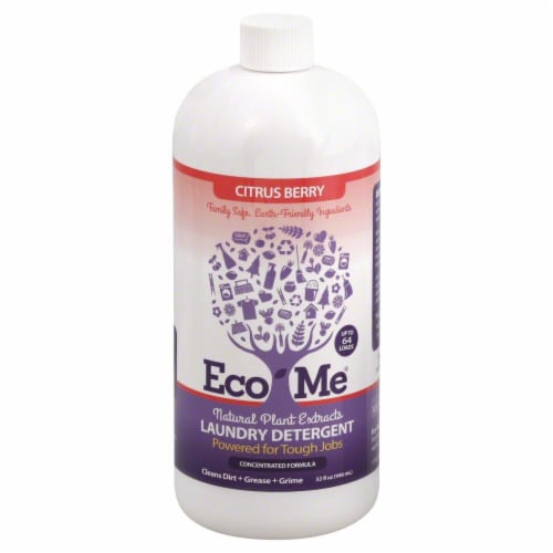 Eco-Me Citrus Berry Liquid Laundry Detergent Perspective: front