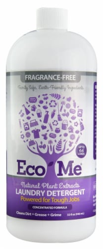 Eco-Me Fragrance-Free Natural Liquid Laundry Detergent Perspective: front