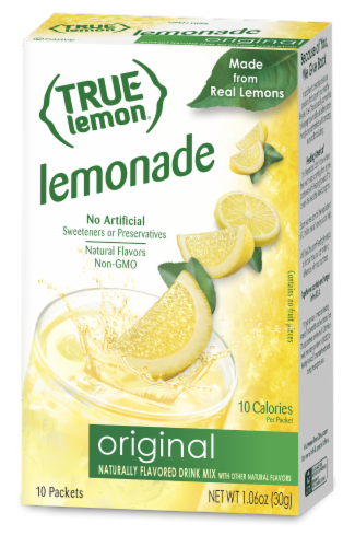 True Lemon Original Lemonade Drink Mix Packets Perspective: front