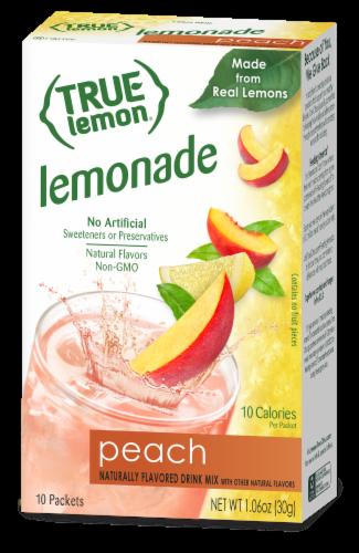 True Lemon Peach Lemonade Drink Mix Packets Perspective: front