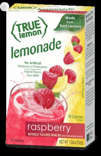 True Lemon Raspberry Lemonade Drink Mix Packets Perspective: front
