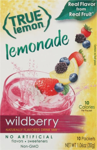 True Lemon Wild Berry Lemonade Drink Mix Packets Perspective: front