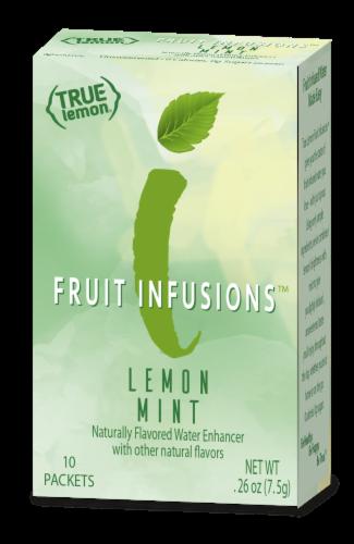 True Lemon Fruit Infusions Lemon Mint Water Enhancer Packets Perspective: front