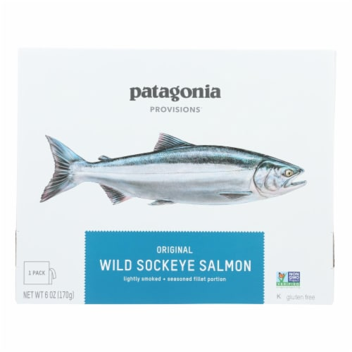 Patagonia - Salmon Wild Sockeye Orgnl - Case of 6-6 OZ Perspective: front